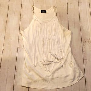Zara tank with fringes in front size small